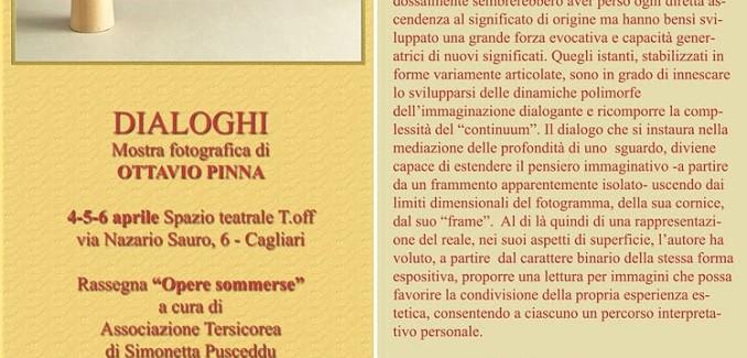 Dialoghi, mostra fotografica di Ottavio Pinna allo spazio T Off di Cagliari