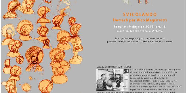 Il design italiano a Tirana con un omaggio a Vico Magistretti