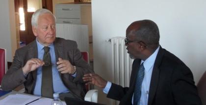 Da sinistra Pier Luigi Malesani, Segretario Generale COPEAM e Mohamed Ahmed Jimale, Rettore UNS