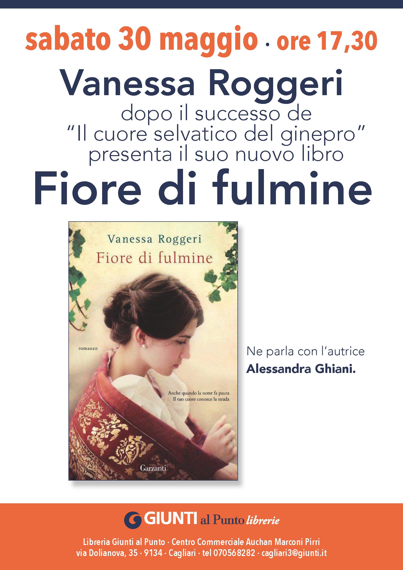 """Vanessa Roggeri presenta il suo nuovo romanzo """"Fiore di fulmine"""""""