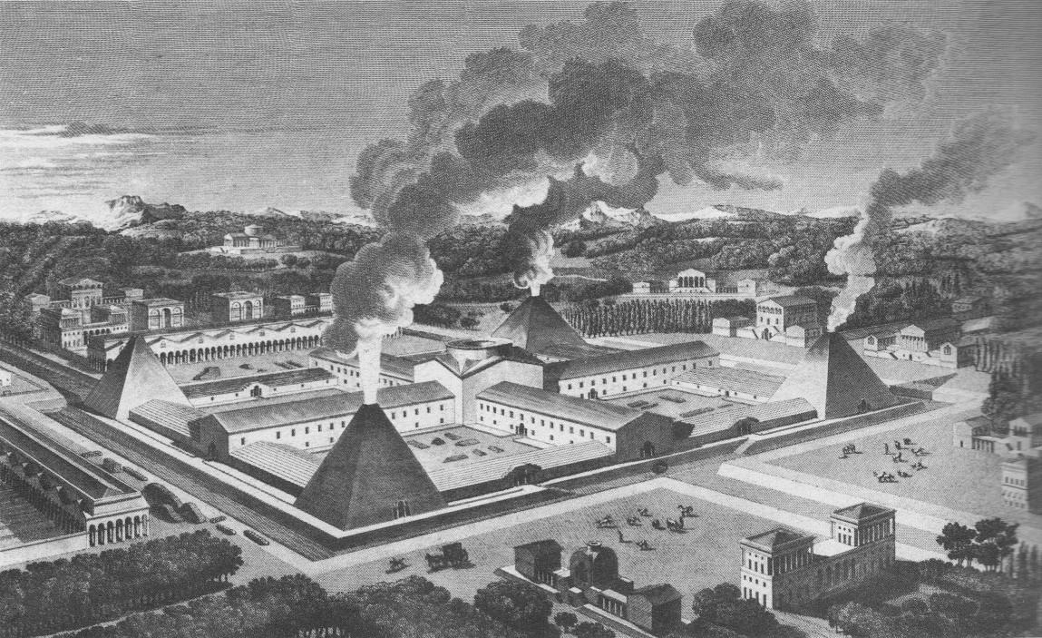 Fig. 11 - Claude-Nicholas Ledoux, Fabbrica di cannoni