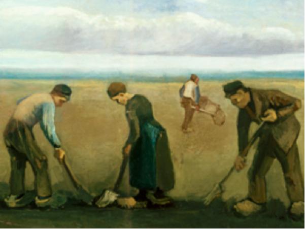 Fig. 15 – Vincent van Gogh, Contadini che piantano patate, 1884
