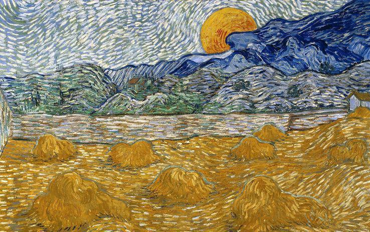 Fig. 17 – Vincent van Gogh, Paesaggio con covoni e luna che sorge, 1889