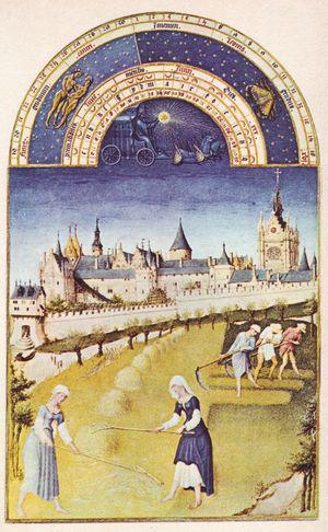 Fig. 19 - Fratelli Limbourg, Les très riches heures du Duc de Berry, particolare