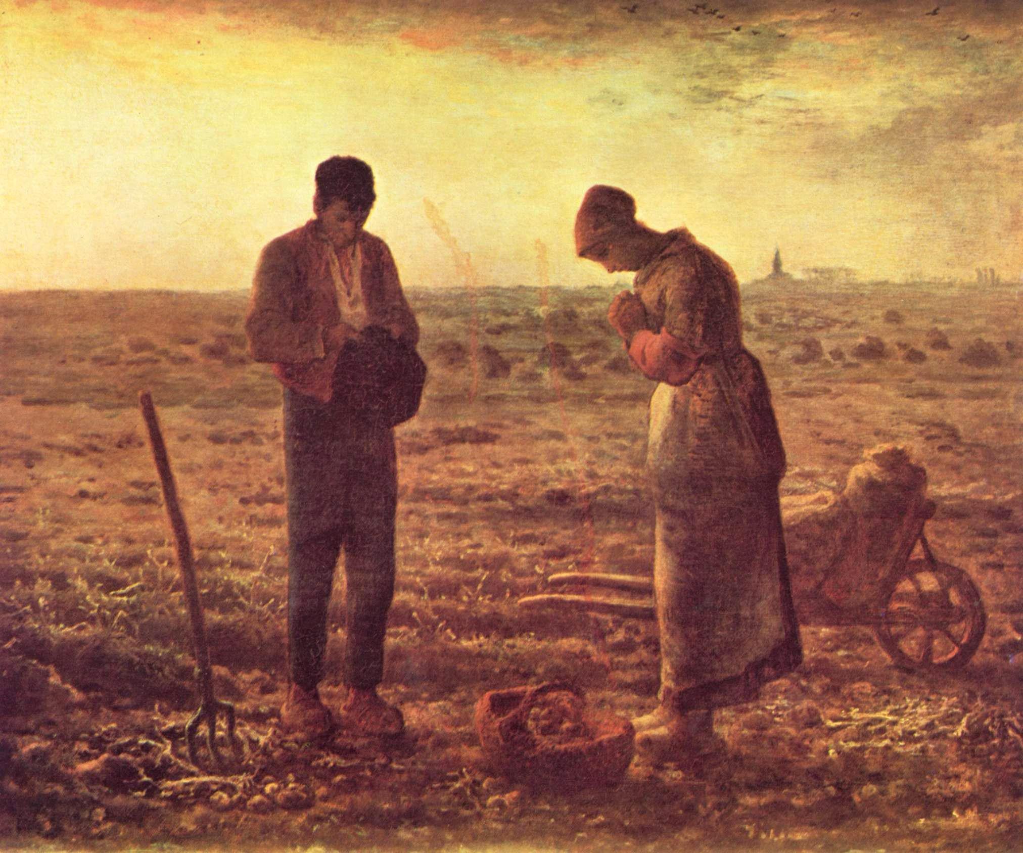 Fig. 23 –Jean-François Millet, L'Angelus, 1857-59