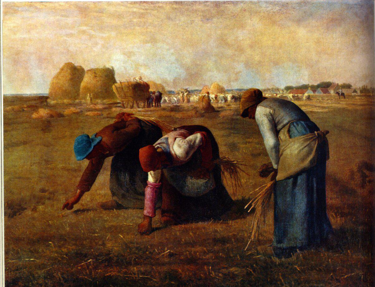 Fig. 24 – Jean-François Millet, Le spigolatrici, 1857