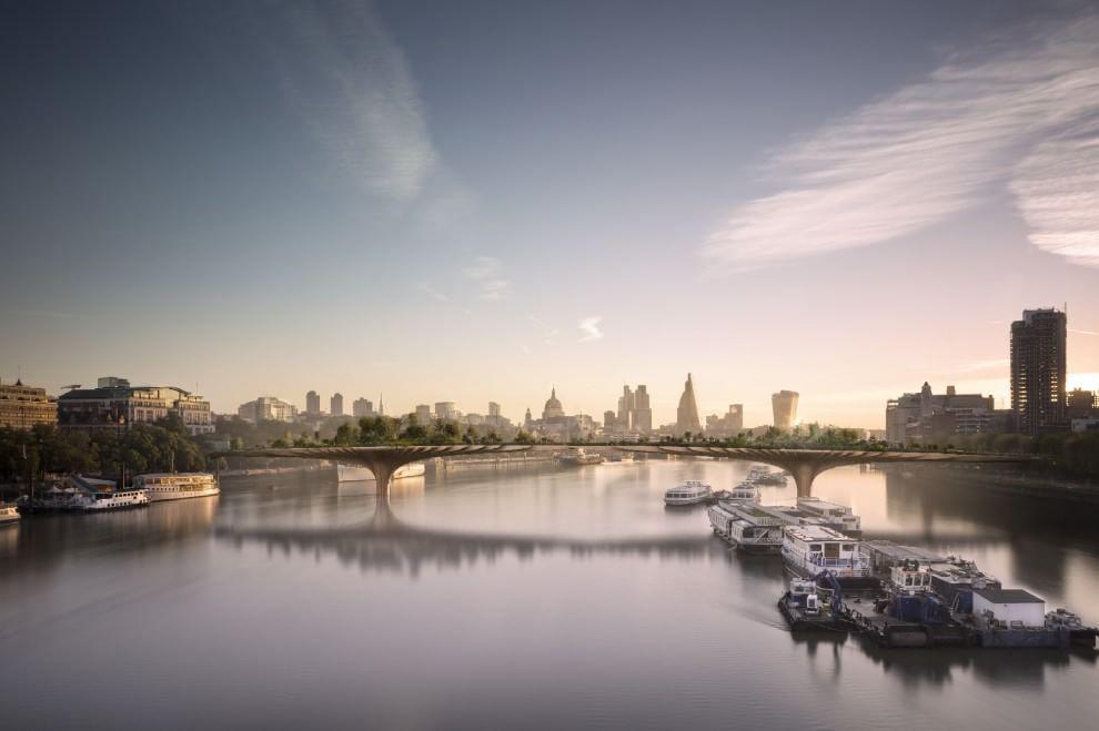 Fig. 5 – Rendering del progetto del Garden Bridge di Londra