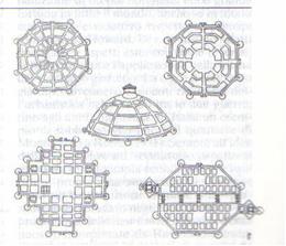 Fig.9 - Francesco di Giorgio Martini, Schemi di città ideali