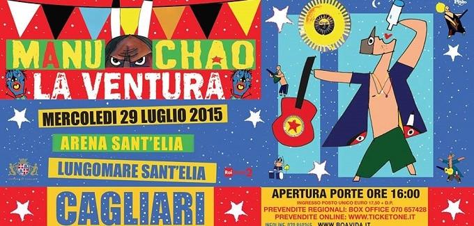 Cagliari, Manu Chao La ventura Italian tour Direction SUD!