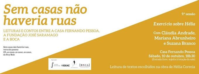 """Alla Casa Fernando Pessoa di Lisboa, """"Exercício sobre Hélia"""""""