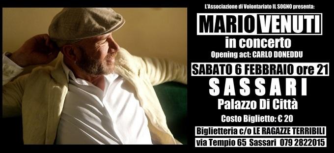 Mario Venuti a Sassari per un concerto di beneficenza