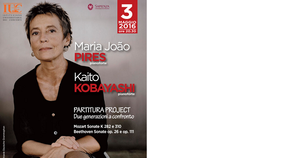 I pianisti Maria Joao Pires e Kaito Kobayashi alla Sapienza di Roma