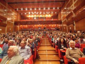 Auditorium durante l'incontro con Matteo Renzi