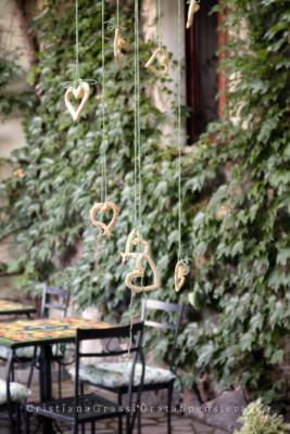 Paulilatino. Allestimento in cortile, foto di Cristiana Grassi