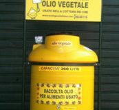 Stazione di raccolta di olio vegetale