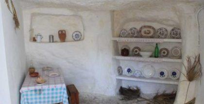 Un interno del villaggio ipogeico