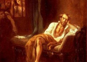Il Tasso in prigione di Eugène Delacroix