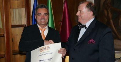 Gianmarco Murru riceve il premio eCulture Heritage