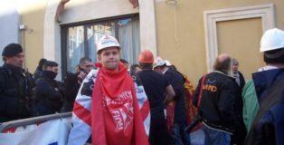 Manifestazione Alcoa a Roma