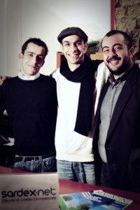 Gabriele e Giuseppe Littera insieme a Carlo Mancosu