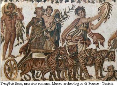 Trionfo di Bacco, mosaico romano