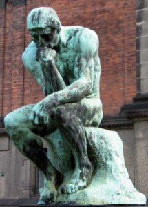 Il pensatore di Auguste Rodin
