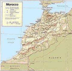 Cartina Marocco