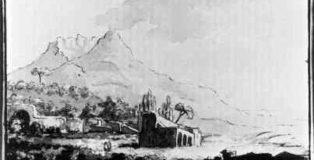 Il Vesuvio, disegno di Goethe