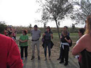 L'Assessore Marina Del Zompo e il Prof. Roberto Crnjar introcuno la passeggiata