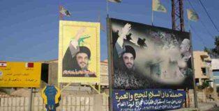 Propaganda Hezbollah lungo le strade del Sud del Libano