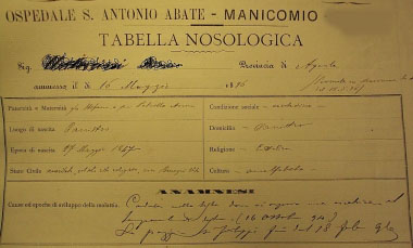 Disagi archiviati: la malattia mentale attraverso i documenti degli ospedali psichiatrici