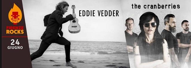 Eddie Vedder a Firenze Rocks