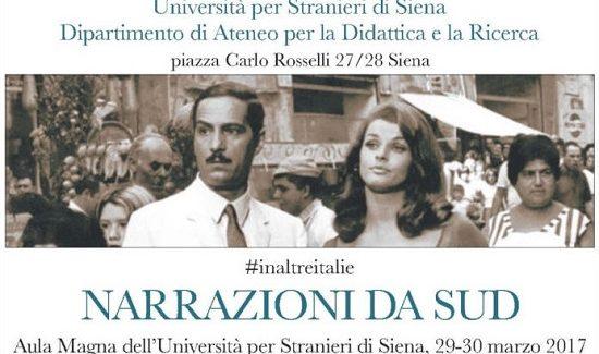 Narrazioni da Sud, convegno all'Università per stranieri di Siena