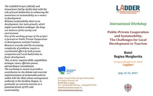 """A Cagliari il Workshop Internazionale """"Public-Private Cooperation and Sustainability.  The Challenges for Local Development in Tourism"""""""