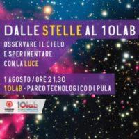 Tutti col naso all'insù per osservare le stelle, il 1 agosto al Parco scientifico di Pula con il 10lab