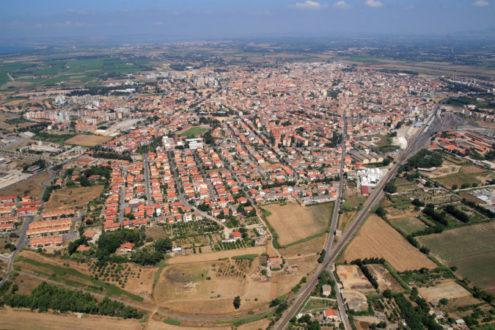 Veduta aerea di Oristano