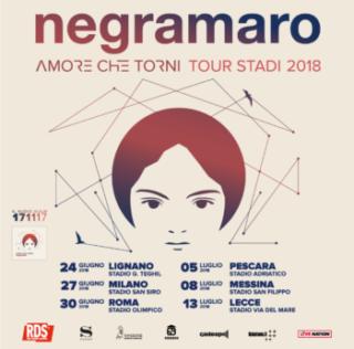 Per i  Negramaro 6 imperdibili concerti nei più grandi stadi italiani