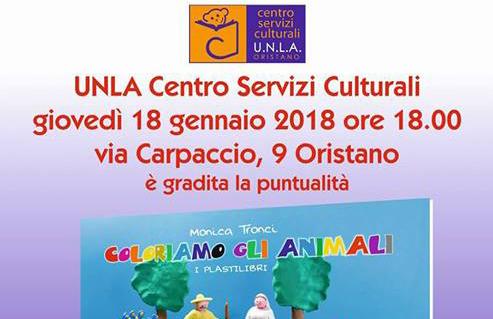 """A Oristano, il 18 gennaio, presentazione del nuovo libro di Monica Tronci, """"Coloriamo gli animali"""""""
