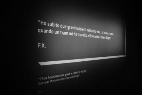 nelle frasi di Frida, che si leggono al Mudec di Milano, c'è l'amore e il dolore per Diego