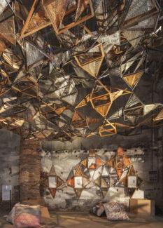 Biennale Architettura 2018: Weaving Architecture, installazione di Benedetta Tagliabue-EMBT, supportata da AHEC
