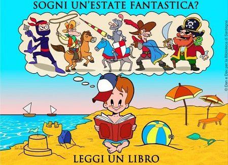 """Campagna della Biblioteca di Sardegna """"Sogni un'estate fantastica? Leggi un libro"""""""