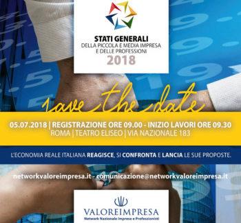 Il 5 luglio a Roma tornano gli stati generali della piccola impresa e delle professioni