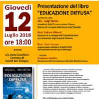 """A Castel San Giorgio Luigi Gallo per la presentazione del libro """"Educazione Diffusa"""""""