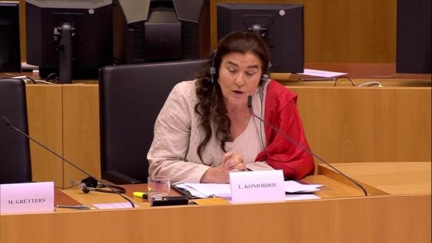 Lydia KONIORDOU ministra della cultura grecia