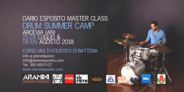 """Torna ad Arcevia il """"DRUM CAMP 2018"""" con il maestro Dario Esposito"""