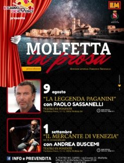 Il Mercante di Venezia con Andrea Buscemi Il 1 settembre sul palco di Molfetta in Prosa