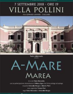 """""""A-Mare / Marea"""" a Villa Pollini a Cagliari – con la partecipazione straordinaria di Milena Agus"""