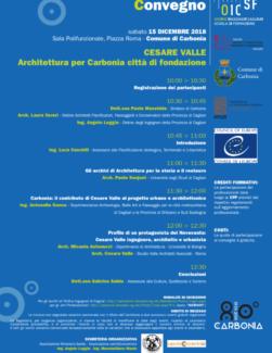Cesare Valle progettista di Carbonia: il convegno di Oic e Architetti tra gli eventi comunali per gli 80 anni della fondazione