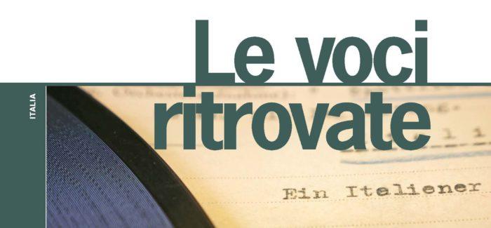 """L'ISRE PRESENTA IL VOLUME """"LE VOCI RITROVATE"""""""