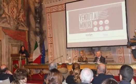 """Il (Moige) Movimento Italiano Genitori, ha organizzato al Senato il convegno """"Venduti ai Minori: la complicità dei venditori nelle cattive abitudini dei nostri figli"""""""